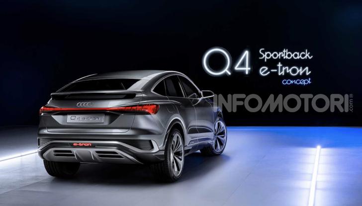 Audi Q4 Sportback e-tron concept: il nuovo SUV elettrico da oltre 300 CV - Foto 11 di 12