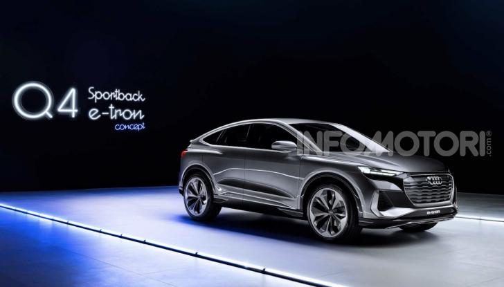 Audi Q4 Sportback e-tron concept: il nuovo SUV elettrico da oltre 300 CV - Foto 2 di 12