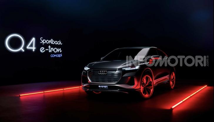 Audi Q4 Sportback e-tron concept: il nuovo SUV elettrico da oltre 300 CV - Foto 3 di 12