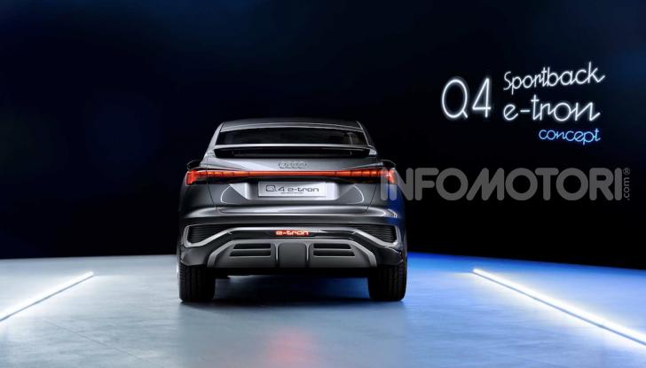 Audi Q4 Sportback e-tron concept: il nuovo SUV elettrico da oltre 300 CV - Foto 4 di 12