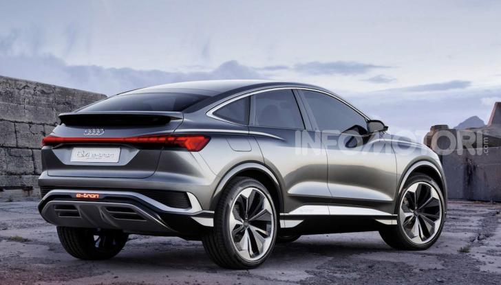 Audi Q4 Sportback e-tron concept: il nuovo SUV elettrico da oltre 300 CV - Foto 5 di 12