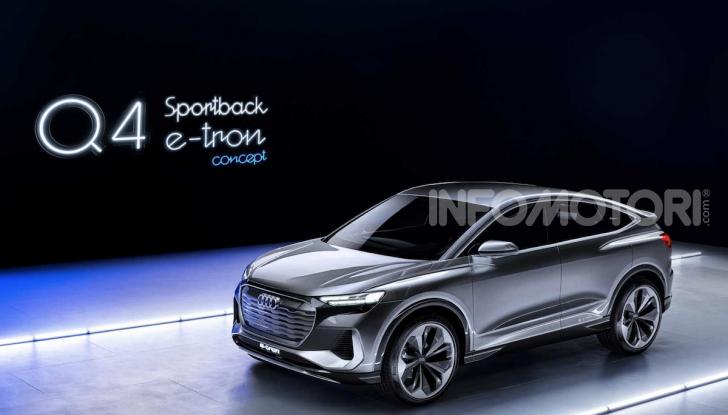 Audi Q4 Sportback e-tron concept: il nuovo SUV elettrico da oltre 300 CV - Foto 6 di 12