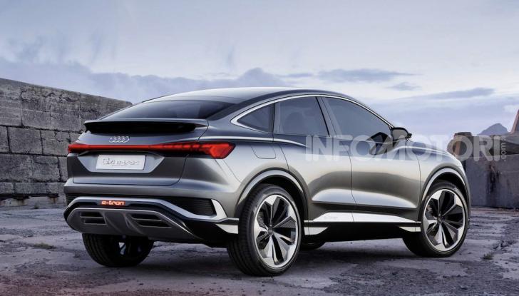 Audi Q4 Sportback e-tron concept: il nuovo SUV elettrico da oltre 300 CV - Foto 8 di 12