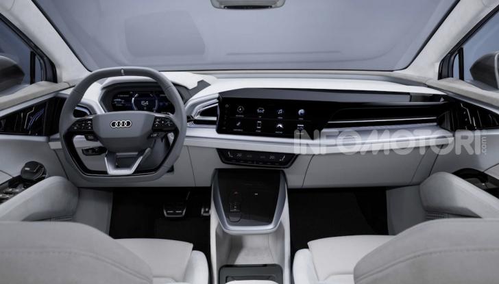 Audi Q4 Sportback e-tron concept: il nuovo SUV elettrico da oltre 300 CV - Foto 9 di 12
