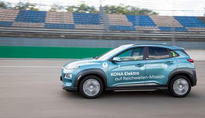 Hyundai Kona Electric da record: oltre 1000 km con una singola carica