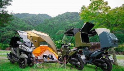 Yamaha Tricity diventa uno scooter da campeggio