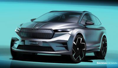 Skoda ENYAQ iV: le nuove immagini teaser del SUV elettrico