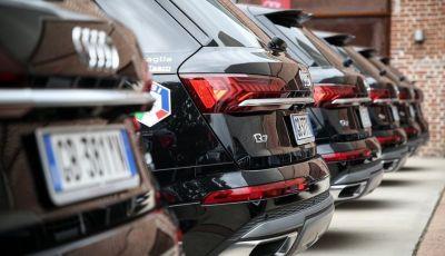 Audi Q7 plug-in hybrid ai Campioni della Nazionale di Sci