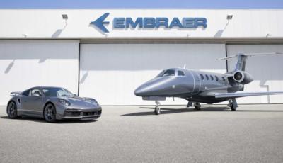 Porsche 911 Turbo S in regalo acquistando un jet Embraer