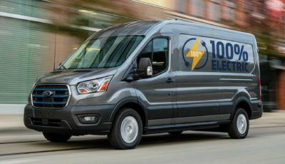 Ford E-Transit: il furgone da 350 km di autonomia arriva in Europa nel 2022