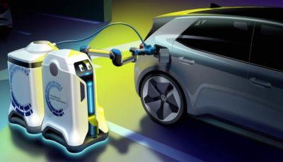 Volkswagen: arriva il robot indipendente per ricaricare le auto elettriche