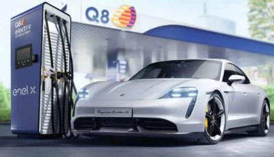 Porsche collabora con Q8 ed Enel X per le stazioni di ricarica veloce