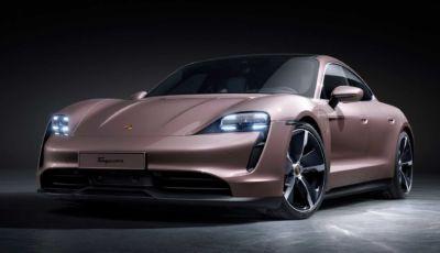Porsche Taycan MY2021: la base a trazione posteriore attacca da 86.471 Euro