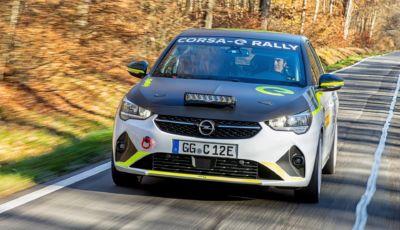 Opel Corsa-e Rally: pronta al debutto nella e-Rally Cup di maggio