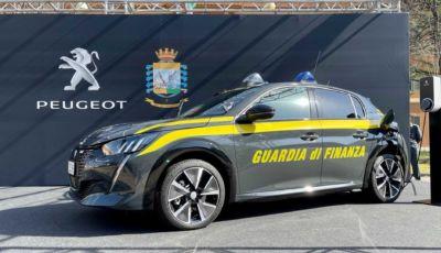 La Guardia di Finanza si elettrifica con la Peugeot e-208
