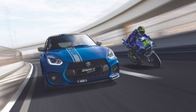Suzuki Swift Sport Hybrid: la World Champion Edition celebra i sette Titoli in MotoGP