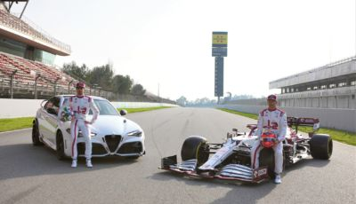 Alfa Romeo Giulia GTA fa coppia con Raikkonen e Giovinazzi in F1