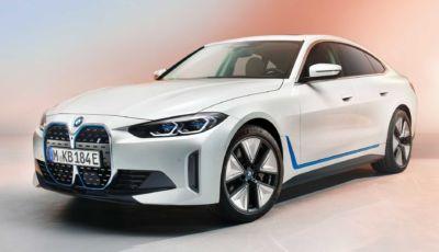 BMW i4: le prime foto ufficiali della berlina elettrica