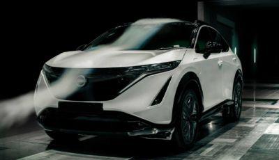 Nissan Ariya: con l'aerodinamica avanzata supera i 500 km di autonomia