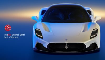 Maserati MC20: è lei la regina dei Red Dot Awards 2021