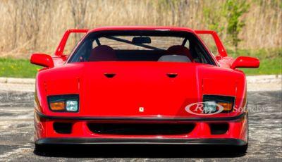Ferrari F40: all'asta da RM Sotheby's un esemplare immacolato!