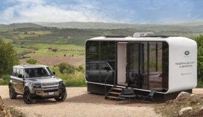 Land Rover presenta Eco Home, la casa mobile da trainare con il Defender