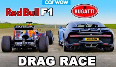 Bugatti Chiron contro Red Bull F1: qual è la più veloce in accelerazione?