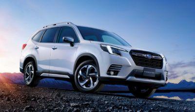 Subaru Forester 2022: il restyling della 5° generazione arriva in autunno