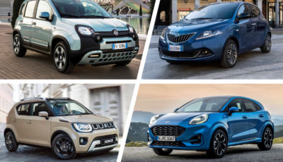 Fiat Panda e 500 più Lancia Ypsilon con Ford Puma e Suzuki sono le auto ibride più amate e furbe