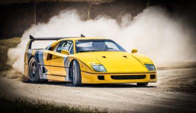 Ferrari F40: lo YouTuber TheTFJJ la fa driftare sullo sterrato!