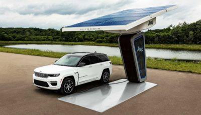 Jeep Grand Cherokee 4xe 2022: il SUV plug-in debutta a fine agosto