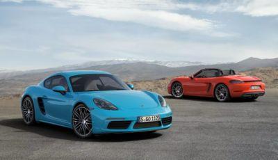Porsche 718: la gamma Cayman e Boxster verso l'elettrico entro il 2024