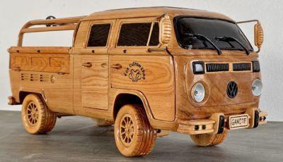 Volkswagen Bulli: il Type 2 replica realizzato in legno è spettacolare!